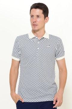 プレミアムTEX ダイヤ柄ポロシャツ(MENS)