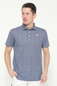 ペイズリープリント クールマックス カノコ 半袖ポロシャツ