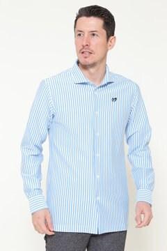 カノコ×天竺ストライプ カットソーシャツ