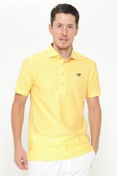 ストライプ 半袖 ポロシャツ