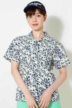 ボタニカルフラワープリント オープンカラーシャツ(LADIES)