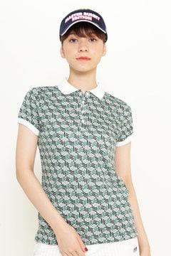 クールマックス鹿の子 キューブMBEロゴプリントポロシャツ(LADIES)