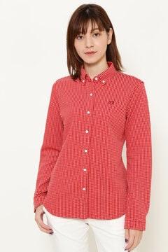 ドロップリップル ボタンダウン カットソーシャツ