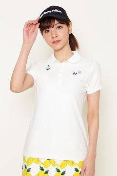 ハニカムストライプ 半袖ポロシャツ