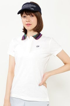 リーフ柄 リンクス 半袖 ポロシャツ