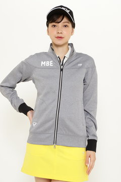 MSY ハイロフトディンブル メッシュ杢×ピカピカサテン フルジップ ジャケット
