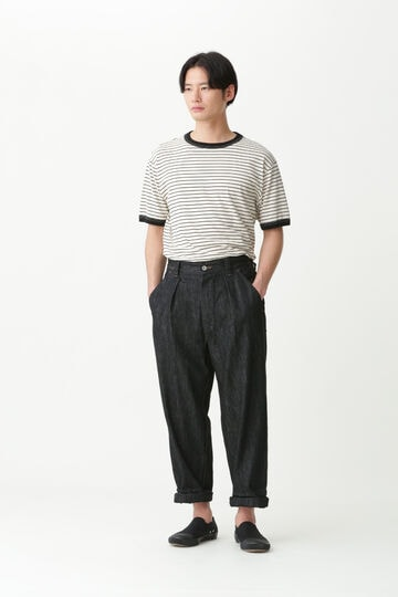 COTTON LINEN STRIPE JERSEY_042