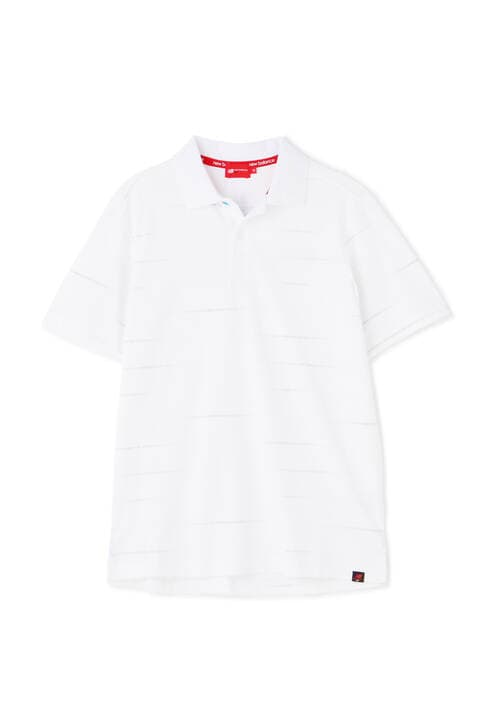 コメットロゴボーダープリント 半袖 ポロシャツ (MENS SPORT)