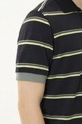 接触冷感 フェイドネオンボーダー 半袖 ポロシャツ (MENS METRO)