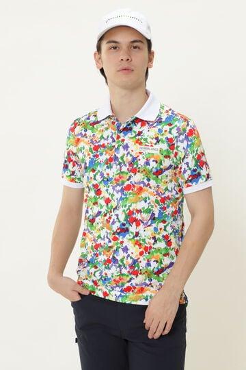 【直営店舗限定】フラワーアート 半袖 ポロシャツ (MENS)