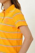 接触冷感 フェイドネオンボーダー 半袖 ポロシャツ (WOMENS METRO)