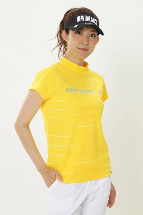 コメットロゴボーダープリント 半袖 モックネック プルオーバー (WOMENS SPORT)