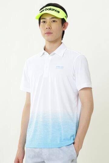 スプレーグラデーション ジャカード 半袖 カラーシャツ (MENS SPORT)