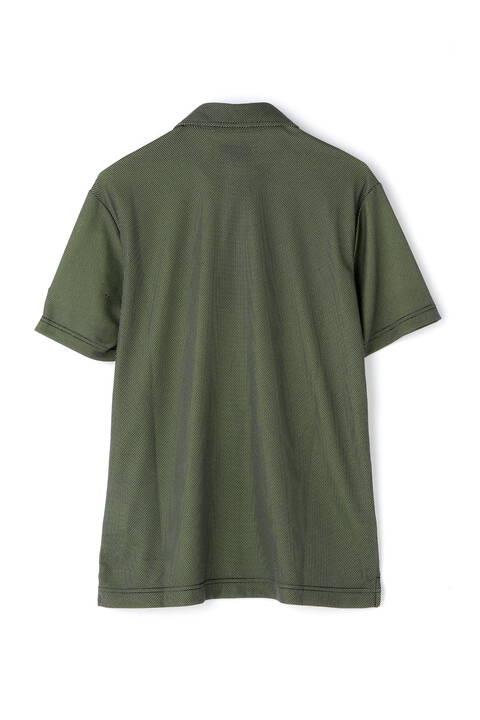 変形カノコ ツートーンダブルフェイス 半袖カラーシャツ (MENS SPORT)