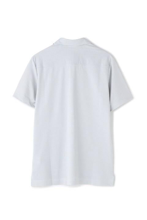 ピンボーダージャカード 半袖 カラーシャツ (MENS METRO)