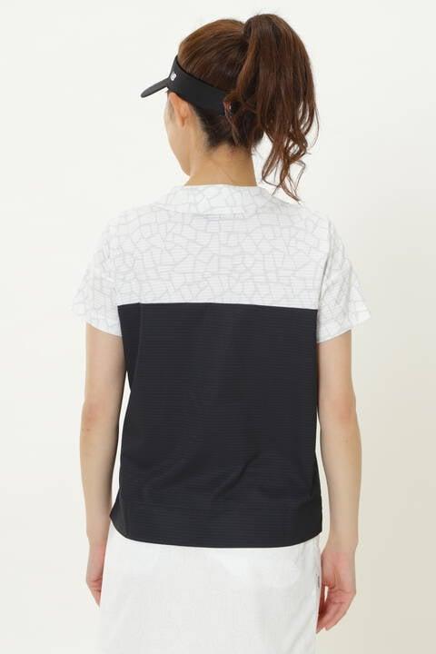 シアサッカーメッシュ 半袖 カラーシャツ (WOMENS SPORT)
