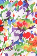 フラワーアート 半袖 カラーシャツ (WOMENS METRO)
