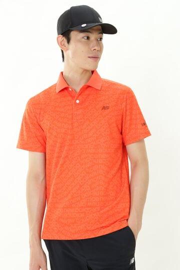スパイラルロゴタイププリント 半袖 ポロシャツ (MENS SPORT)