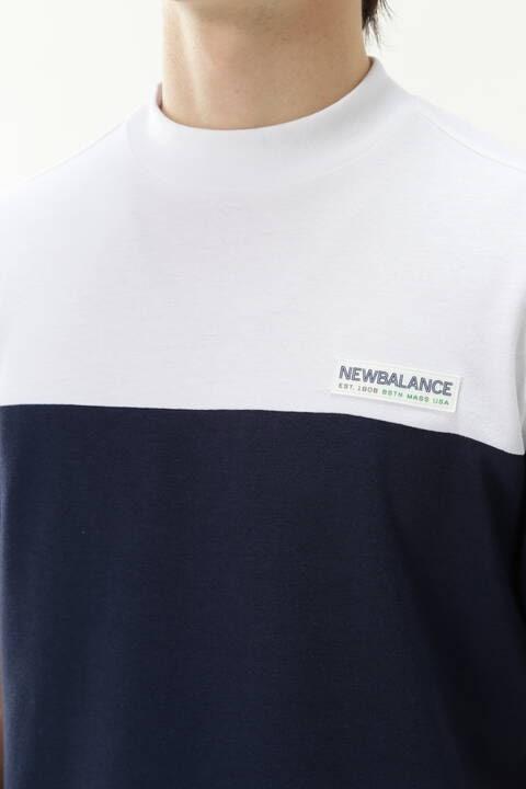 バイカラー 半袖 モックネック プルオーバー (MENS METRO)