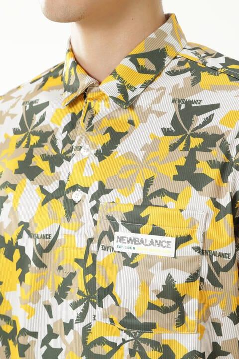 パームツリーカモフラージュ 半袖 カラーシャツ (MENS)