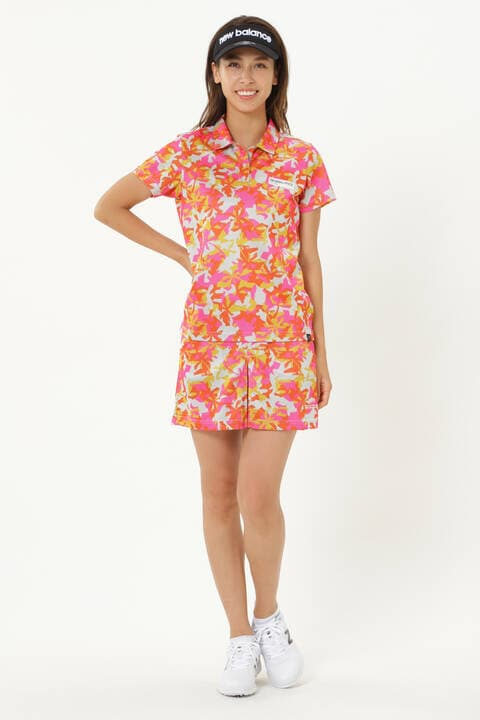 パームツリーカモフラージュ 半袖 カラーシャツ (WOMENS)