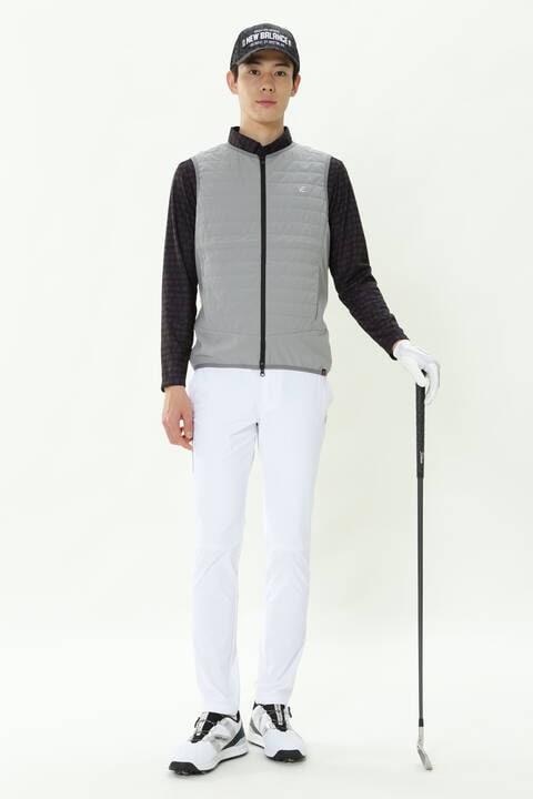 スプリンクルドットプリント 長袖 カラーシャツ (MENS SPORT)