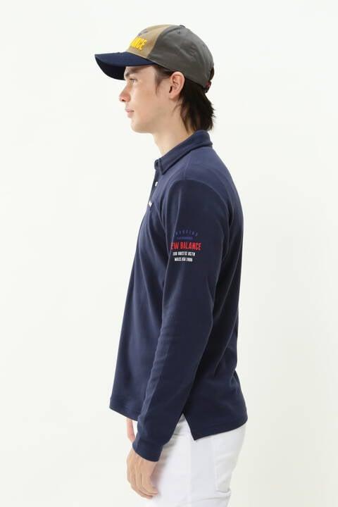 ダブルフェイス 裏アイレットメッシュ 長袖 カラーシャツ (MENS METRO)