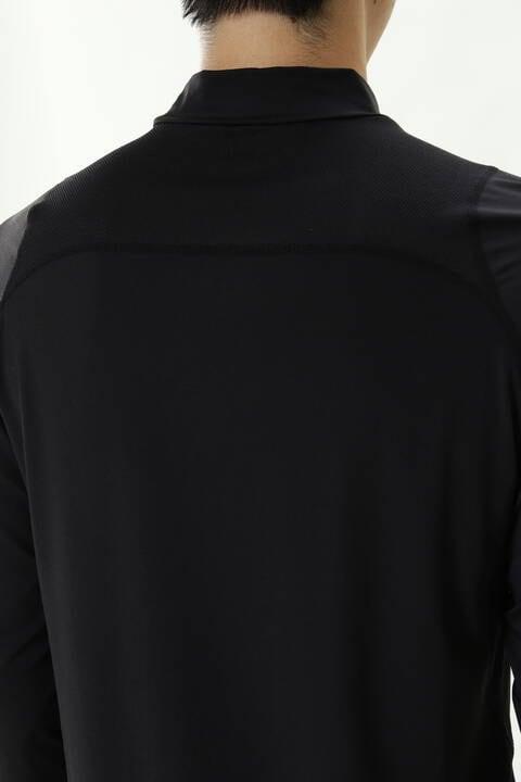 ベア天竺×メッシュジャカード モックネック プルオーバー (MENS SPORT)