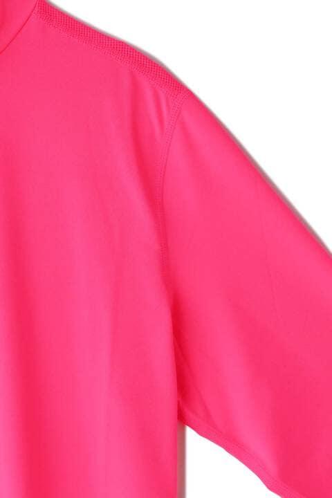 ベア天竺×メッシュジャカード モックネック プルオーバー (WOMENS SPORT)