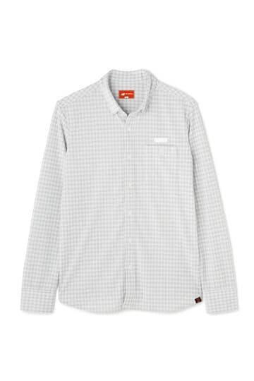 トーナルギンガムジャガード 長袖 ボタンダウン カラーシャツ  (MENS METRO)