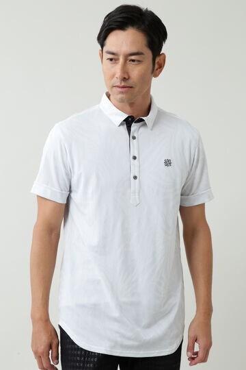 ゼブラ柄ジャガード半袖シャツ