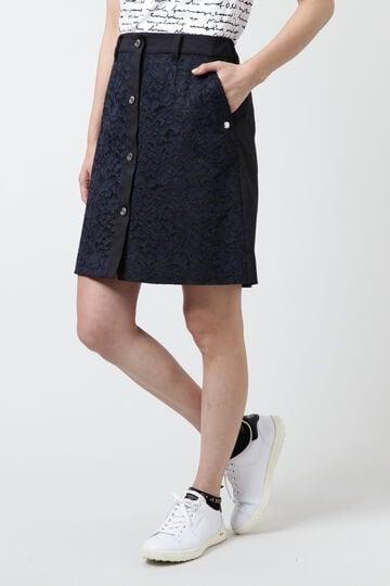レース×TCストレッチツイルスカート (WOMENS)