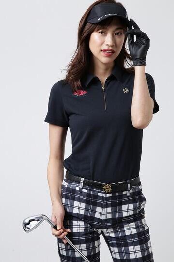 Policotto30/1鹿の子羽襟半袖シャツ (WOMENS)