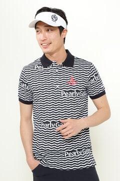 変形 ピラミッド 半袖 カノコ ポロシャツ