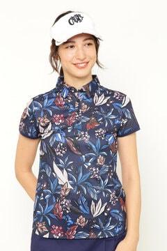 CALLAWAY フラワープリント半袖シャツ (WOMENS)