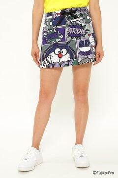 【ドラえもん】POP アート総柄 ツイル風 ストレッチスカート