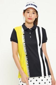 ジャガード 半袖 ポロシャツ