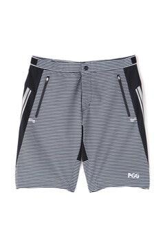 【PGG】4WAY ストレッチ 高密度 ポプリン ショートパンツ <ボーダー/カタカナ> (MENS)