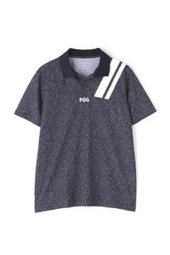 【PGG】カノコ 半袖 ポロシャツ <カタカナ柄> (MENS)