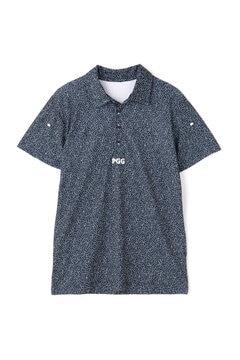 【PGG】メッシュ裏使い 半袖 ポロシャツ <カタカナ柄> (MENS)