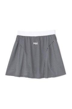 【PGG】ワッフル スカート <バイアスボーダー柄> (LADIES)