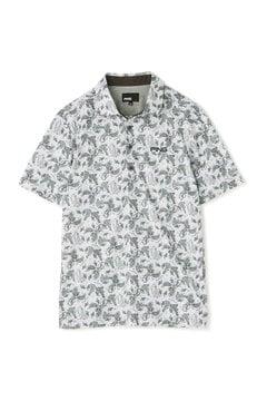 【PING APPAREL】総柄プリント 半袖 カノコ ポロシャツ (MENS)