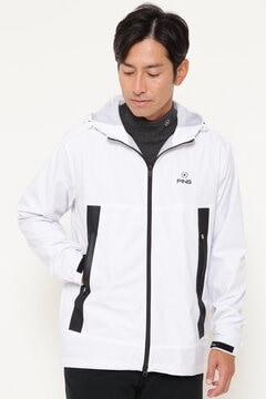 【PING APPAREL】ラミネート加工 防風 撥水 フルジップ フーディー  ジャケット (MENS)