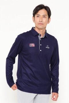 【PING APPAREL】長袖 スムース ポロシャツ (MENS)