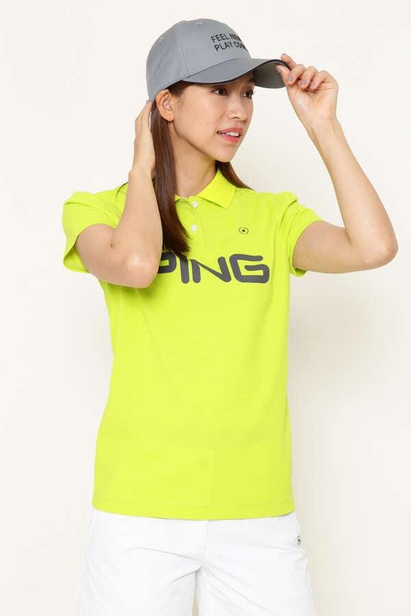 【PING APPAREL】PING ビッグ ロゴ 半袖 ポロシャツ (LADIES)