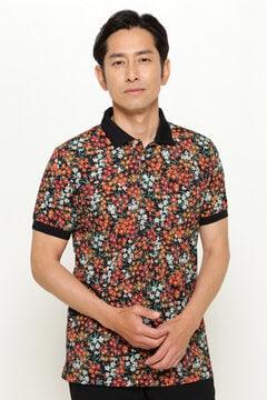 LIBERTY フラワー プリント 半袖 ポロシャツ