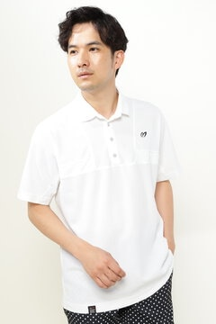 ハニカム カノコ 半袖 ポロシャツ