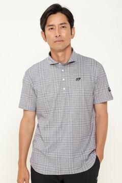 千鳥 ジャガード 半袖 ポロシャツ <千鳥柄シリーズ>