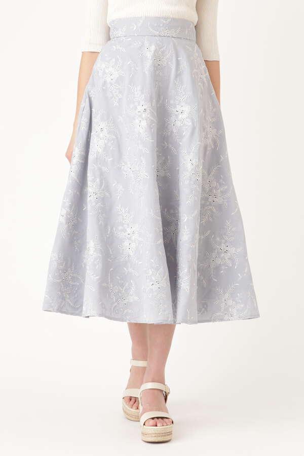 ミシェル刺繍ロングスカート