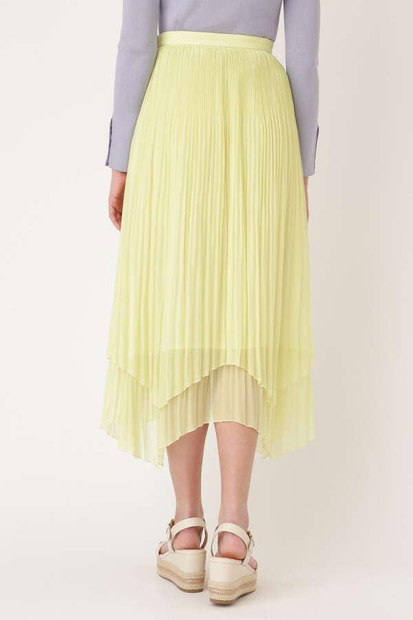 ダブルプリーツイレヘムスカート